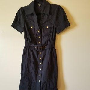 Guess Button Down Short Sleeve Dress